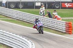 Jorge Lorenzo de competir con del equipo de la fábrica de Yamaha Fotografía de archivo