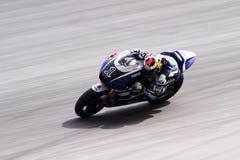 Jorge Lorenzo de l'emballage d'usine de Yamaha Image libre de droits