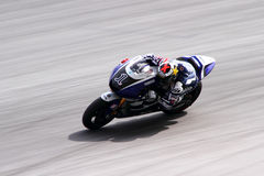 Jorge Lorenzo di corsa della fabbrica di Yamaha Immagine Stock Libera da Diritti