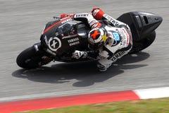 Jorge Lorenzo di corsa della fabbrica di Yamaha fotografia stock