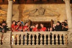 Jorge Lorenzo i macierzyści świętowania w Mallorca Zdjęcia Royalty Free