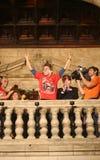 Jorge Lorenzo i macierzyści świętowania w Mallorca vertical Obraz Stock