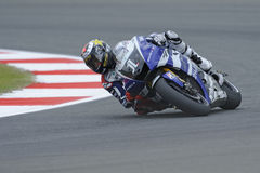 Jorge lorenzo knee down Stock Image