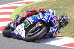 Jorge Lorenzo Monster-Energie Grandprix von Catalunya MotoGP Lizenzfreies Stockfoto
