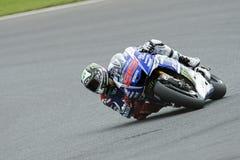 Jorge lorenzo, motogp 2014 Arkivfoton