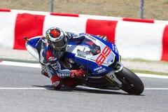 Jorge Lorenzo racing Royalty Free Stock Photography