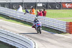 Jorge Lorenzo Yamaha fabryki drużyny ścigać się Fotografia Stock