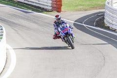 Jorge Lorenzo Yamaha fabryki drużyny ścigać się Obrazy Royalty Free