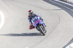 Jorge Lorenzo Yamaha fabryki drużyny ścigać się Obraz Stock