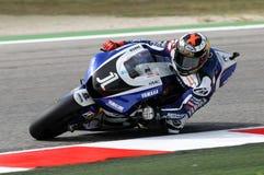 Jorge Lorenzo YAMAHA MotoGP 2011 images stock