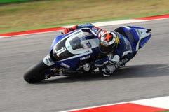 Jorge Lorenzo YAMAHA MotoGP 2011 photos stock