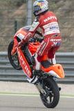 Jorge MARTIN Moto3 Grand Prix Movistar Aragà ³ ν Στοκ εικόνα με δικαίωμα ελεύθερης χρήσης