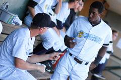 Jorge Mateo and Collin Slaybaugh, Charleston RiverDogs Royalty Free Stock Image