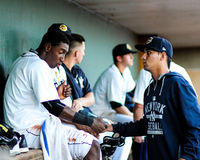 Jorge Mateo and Luis Cedeno, Charleston RiverDogs Stock Photography