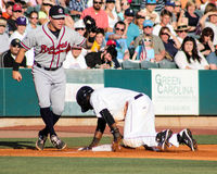 Jorge Mateo safe at third base. Stock Images