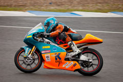 Jorge Navarro pilot of 125cc in the CEV Royalty Free Stock Image