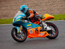 Jorge Navarro pilot of 125cc in the CEV Royalty Free Stock Photo
