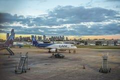 Jorge Newbery Airport Argentina Royaltyfri Foto