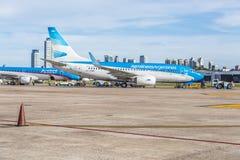Jorge Newbery Airport, Argentinië Stock Foto's