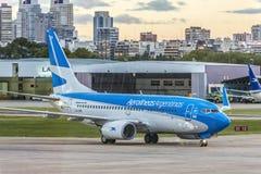 Jorge Newbery Airport, la Argentina Imagenes de archivo