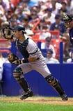 Jorge Posada av New York Yankees Arkivfoto