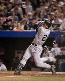 Jorge Posada batte nel 2000 il campionato di baseball Fotografie Stock