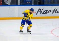 Jorgen Pettersson (7) na ação Foto de Stock Royalty Free