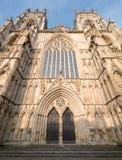 Jork Anglia UK Widok Jork minister, jeden światowy ` s najwięcej wspaniałych katedr Fotografujący na słonecznym dniu fotografia stock