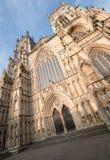 Jork Anglia UK Widok Jork minister, jeden światowy ` s najwięcej wspaniałych katedr Fotografujący na słonecznym dniu obrazy stock