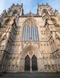 Jork Anglia UK Widok Jork minister, jeden światowy ` s najwięcej wspaniałych katedr Fotografujący na słonecznym dniu obraz royalty free