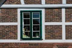 Jork im Alten Land germany. Window in timbered house in Jork im Alten Land germany Stock Image