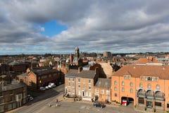 Jork miasto od Clifford ` s wierza atrakci turystycznej UK Zdjęcie Royalty Free