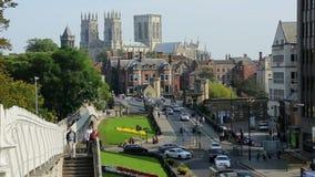 Jork minister - miasto Jork, Anglia - Obrazy Royalty Free