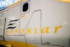 Jork, Zjednoczone Królestwo - 02/08/2018: Stary wzorcowy Eurostar pociąg ja zdjęcie stock