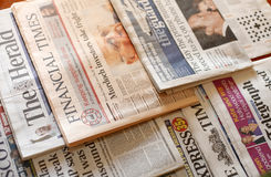 Jornais Fotos de Stock