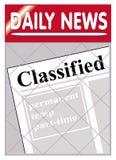 Jornais classific Fotografia de Stock