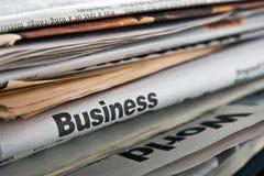Jornais de negócio Fotografia de Stock