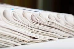 Jornais dobrados Imagem de Stock Royalty Free