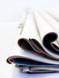 Jornais e compartimentos Fotos de Stock Royalty Free