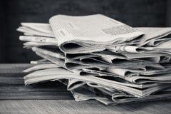 Jornais e compartimentos Tiro preto e branco Imagem de Stock Royalty Free