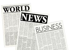 Jornais fictícios ilustração do vetor