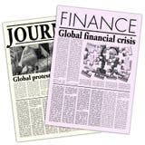 Jornais fictícios ilustração stock
