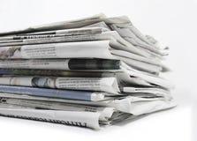 Jornais - imagem conservada em estoque Fotografia de Stock Royalty Free