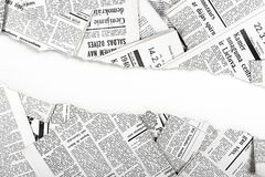 Jornais rasgados velhos Imagem de Stock