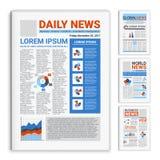 Jornais realísticos do modelo ajustados ilustração do vetor