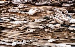 Jornais velhos Imagens de Stock