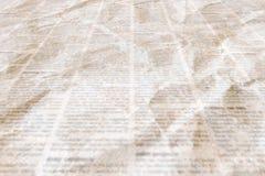 Jornal com fundo de papel ilegível da textura do vintage velho imagem de stock royalty free