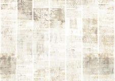 Jornal com fundo de papel ilegível da textura do vintage velho do grunge fotografia de stock royalty free