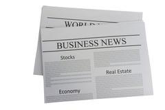 Jornal da notícia de negócio Imagens de Stock Royalty Free
