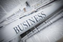 Jornal de negócio Foto de Stock